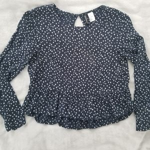 🌵 H&M Long-sleeve Crop Top size 2